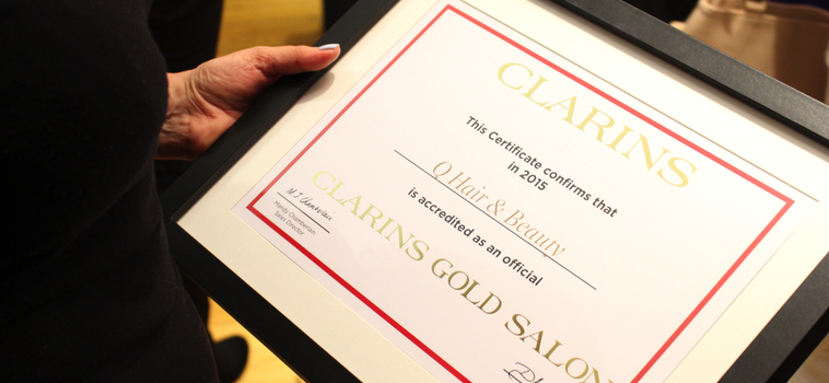 Clarins Gold Salon Launch Party - Q Hair & Beauty, Chichester